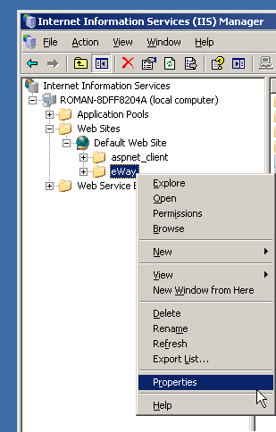 Install the eWay-CRM Server Component — eWay-CRM Knowledge Base