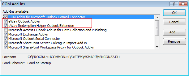 I cannot see eWay-CRM toolbars in MS Outlook — eWay-CRM Knowledge Base